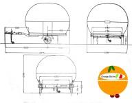 Größe Orange Bistro